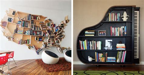 Creative Bookshelves by 20 Of The Most Creative Bookshelves Ever Bored Panda