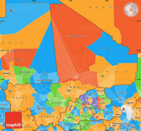 political map of mali political simple map of mali