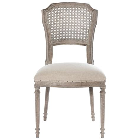 santos french country caned upholstered dining chairs