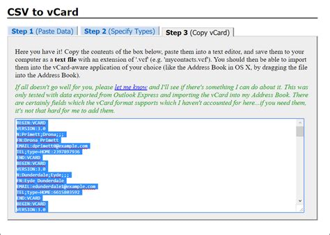 format csv en vcard how to convert a pdf to contacts vcard pdftables