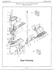 7 5hp outboard motor gear housing diagram parts list for model 52179a mercury parts all
