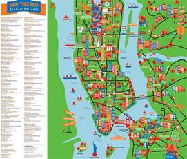 tourist attractions in new york map