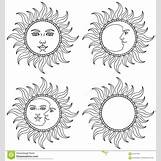 Happy Face Sun Black And White | 1300 x 1390 jpeg 230kB