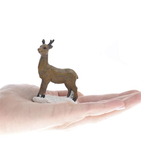 miniature resin reindeer animal miniatures dollhouse