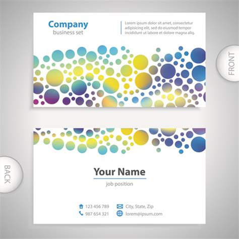 front and back business card template excellent business cards front back template vector 11
