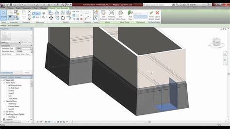 tutorial for revit architecture 2012 revit architecture 2012 tutorial model in place youtube