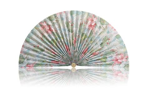 decorative pleated window fans pastel tropical flowers pleated decorative fan