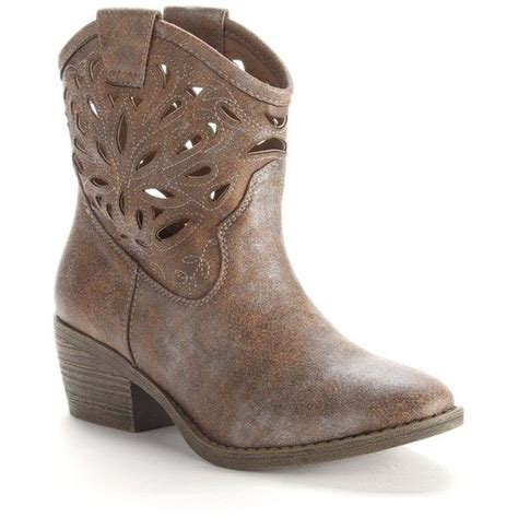 ankle cowboy boots womens so 174 cutout cowboy ankle boots 35 liked on