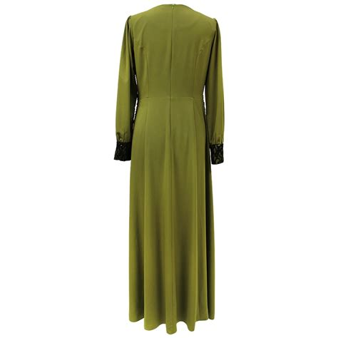 Kaftan Maxy 004 olive green abaya maxi formal dress tk004 muslim