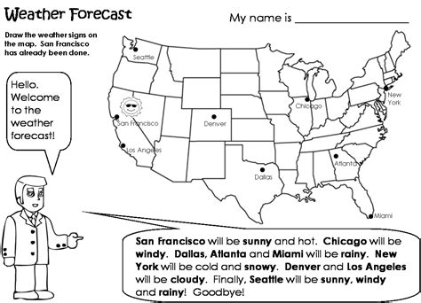 Forecasting Weather Map Worksheet 1 by Weather Worksheet New 830 Weather Forecast Esl Worksheets