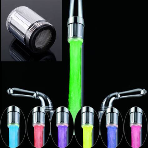 2018 new led water faucet light 7 colors