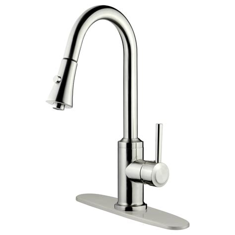 kitchen pull down faucet reviews lesscare single handle pull down kitchen faucet reviews