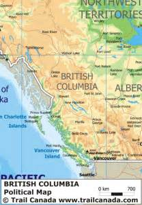 Bc Canada Map by British Columbia Canada Images
