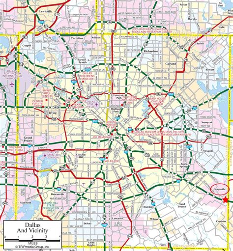 texas map downtown dallas map downtown in the center with surrounding suburbs outside i 20 and i 30 connect to