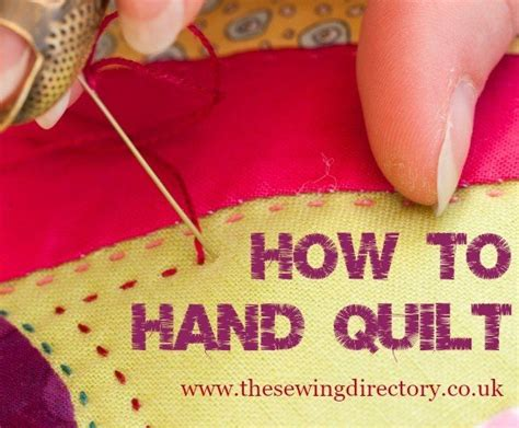 hand quilting tutorial for beginners quilting techniques