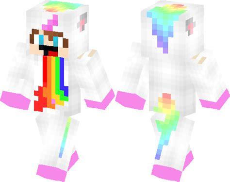 derpy unicorn boy puking rainbow minecraft skin