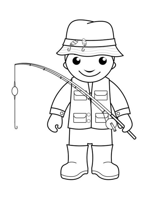 fisherman coloring page free printable coloring pages fisherman free coloring pages