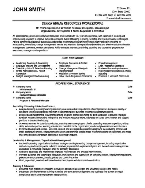 Senior Resume Template by Senior Hr Professional Resume Template Premium Resume Sles Exle