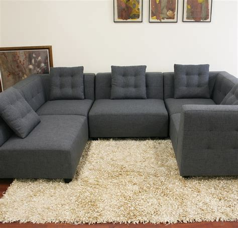 Rugs For Sectional Sofa Furniture Cool Grey Sectional Couches Design With Rugs And Beige Wall For Family Room Design