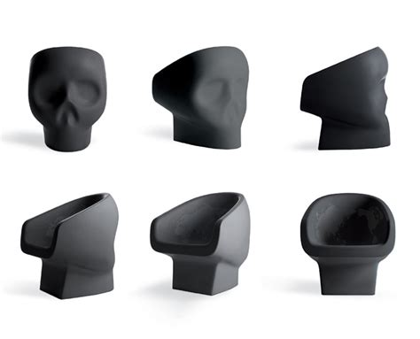 designboom gufram fabio novembre skull shaped jolly roger armchair for gufram