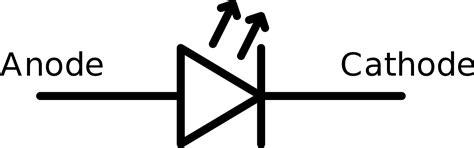 emitting diode symbol file led symbol svg wikimedia commons