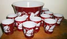 lisas holiday red punch 1000 images about wanted dish set ideas on pyrex salad plates and