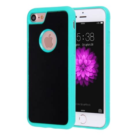 for iphone 7 anti gravity magical nano suction technology sticky selfie protective green