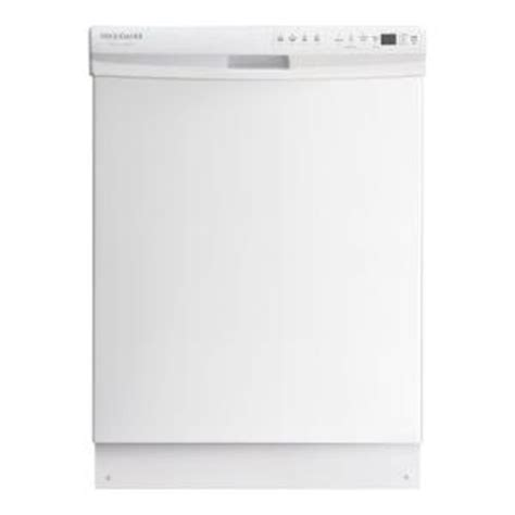 frigidaire gallery front dishwasher in white