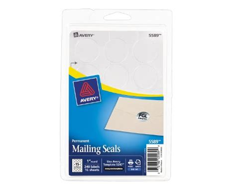 avery printable mailing seals silver metallic 1 inch