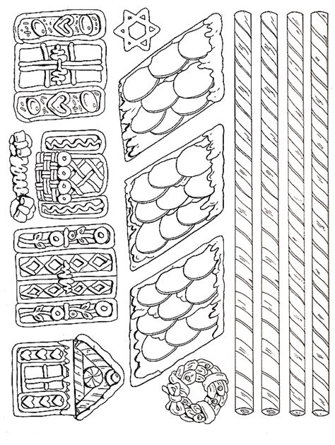 printable gingerbread house pieces gingerbread house more pieces