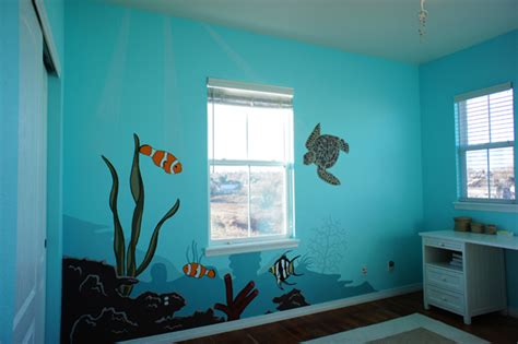 Beach Themed Wall Murals children s murals interior painters cabinet painters