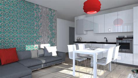 zona living con cucina esempi di progetti 3d di arredare architettiamo progetti