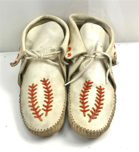 Handmade American Moccasins - guilmox guilfair american indian leather white