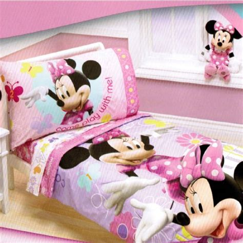 minnie mouse bedding set disney minnie mouse count with me toddler bedding set ebay
