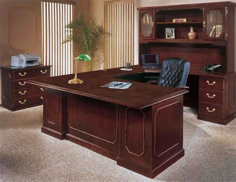 Home Office Furniture Desk by Executive Home Office Furniture With Wooden Office Desk