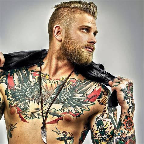 40 chest tattoo design ideas for men bearded men hair