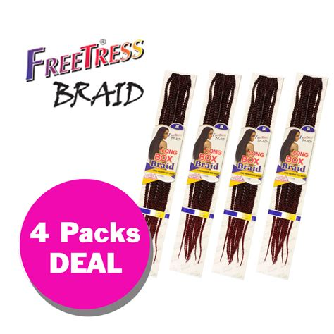 how many bulk packs of hair is needed to braid my hair multi pack long medium box braid freetress crochet