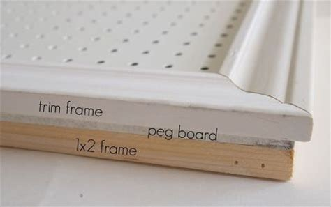 how to paint pegboard build a pegboard frame jenna burger 1000 ideas about basement craft rooms on pinterest
