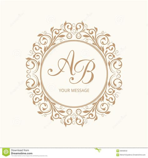 Monogram Stock Photo Image Of Border Cute Element 58258042 Wedding Logo Design Template