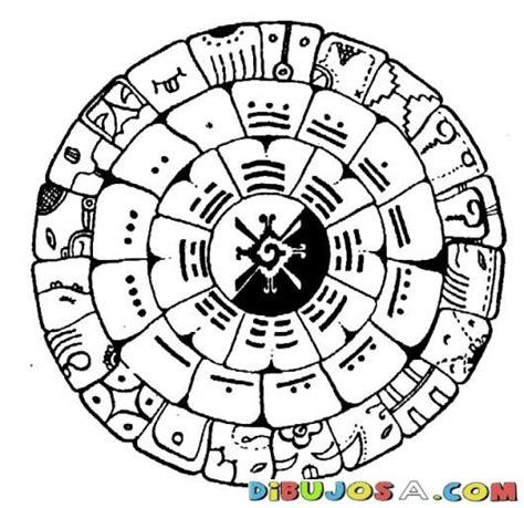 calendario para colorear 13baktun calendario maya dibujo maya de 13bactun para