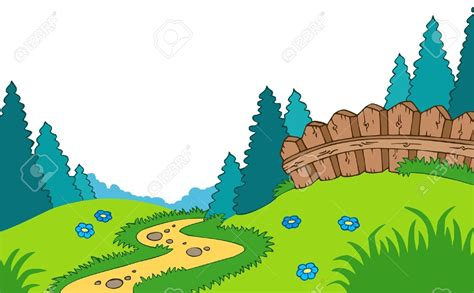 country clipart scenery clipart country landscape pencil and in color