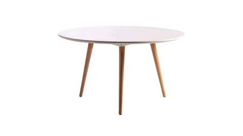 achetez votre table basse ronde blanche et bois mikado pas