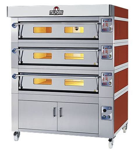Gas Deck Oven Stainless Hitech 3 Deck 6 Trays Arf 60h italforni es6 3 heavy duty deck electric pizza oven