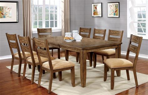 light oak dining room set cm3287t furniture of america