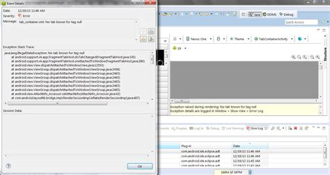 layout xml code render why android support v4 app fragmenttabhost is not