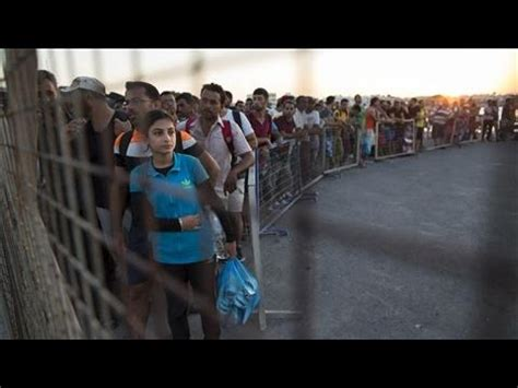 ferry bound video migrants in kos board athens bound ferry youtube