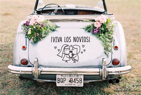decorar boda con vinilos decoraci 243 n del coche de novios para bodas blog de hogarutil