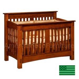 Solid Wood Baby Crib Amish Mccoy Convertible Baby Crib Solid Wood Made In Usa American Eco Furniture