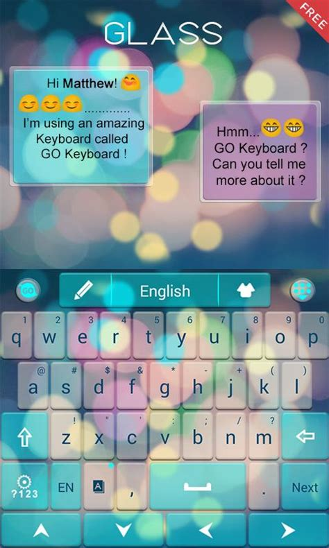 theme keyboard for android free z glass go keyboard theme aplikacja android