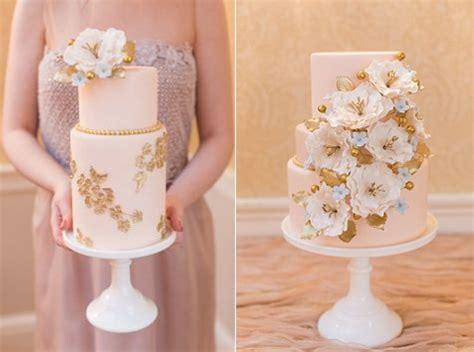 peach and gold peach wedding cakes cake geek magazine